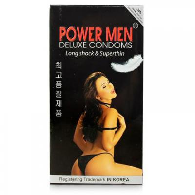 Hộp Bao cao su Power Men Long Shock and Super Thin kích dục