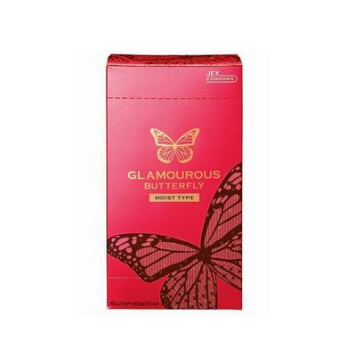 Bao cao su Jex Glamcurous Butterfly moist 1000-hộp 12c kích dục