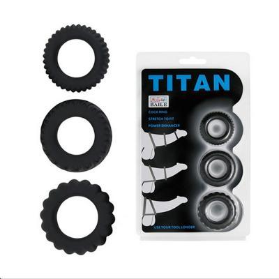 Bộ 3 vòng gai titan giữ cương cứng kích dục