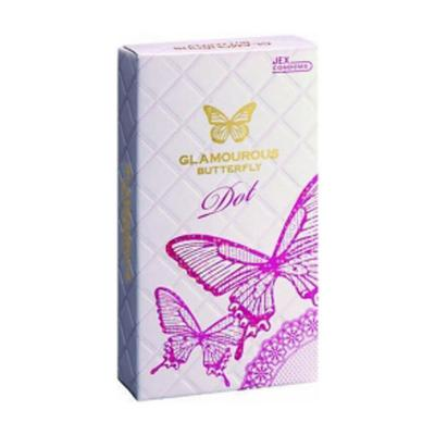 Hộp bao cao su Glamcurous Butterfly Dot 8 chiếc kích dục